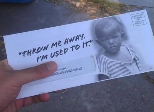 """Throw Me Away. I'm Used To It…"""